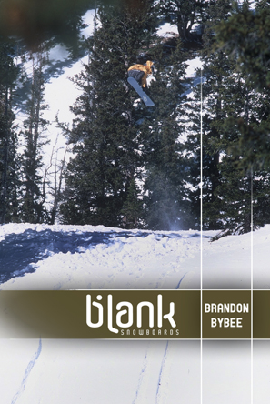 Brandon Bybee; co-owner of Blank Snowboards