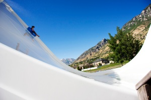 Boomerang: An ultra steep drop-in to this halfpipe. Sorry Tony Hawk, this one's just for water lovers.